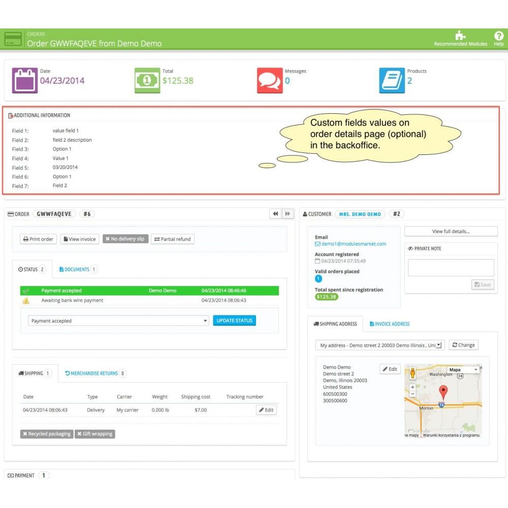 module - Registration & Ordering Process - Custom Fields - 7