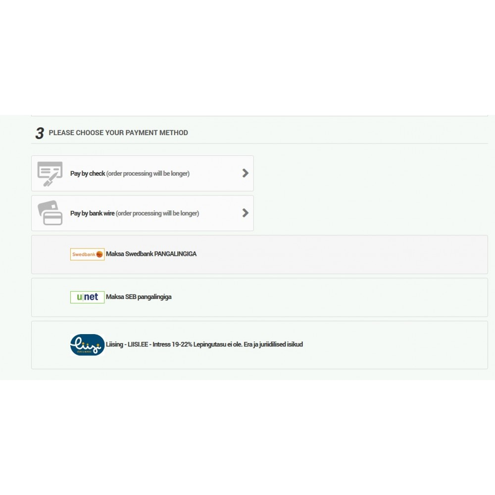 module - Pagamento por cartão ou por carteira - Pangalink Payment - 2