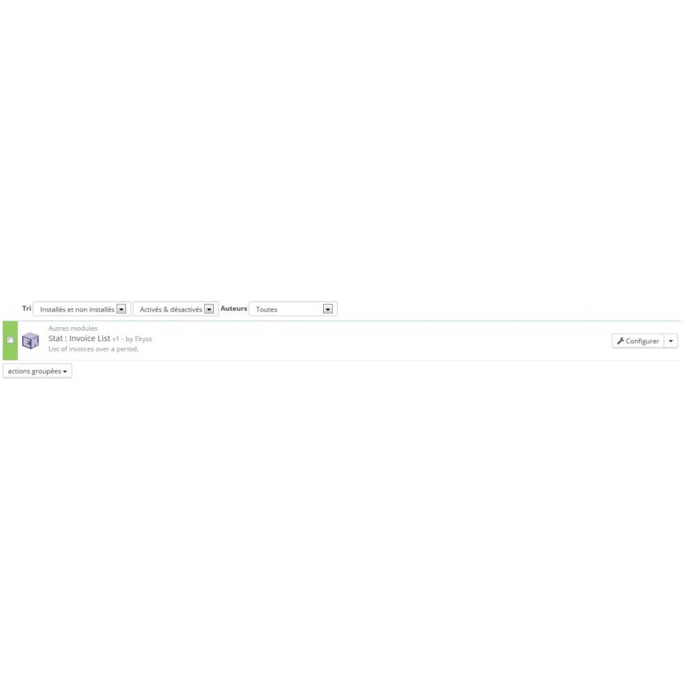 module - Comptabilité & Facturation - EK Listing : Factures et Export - 2