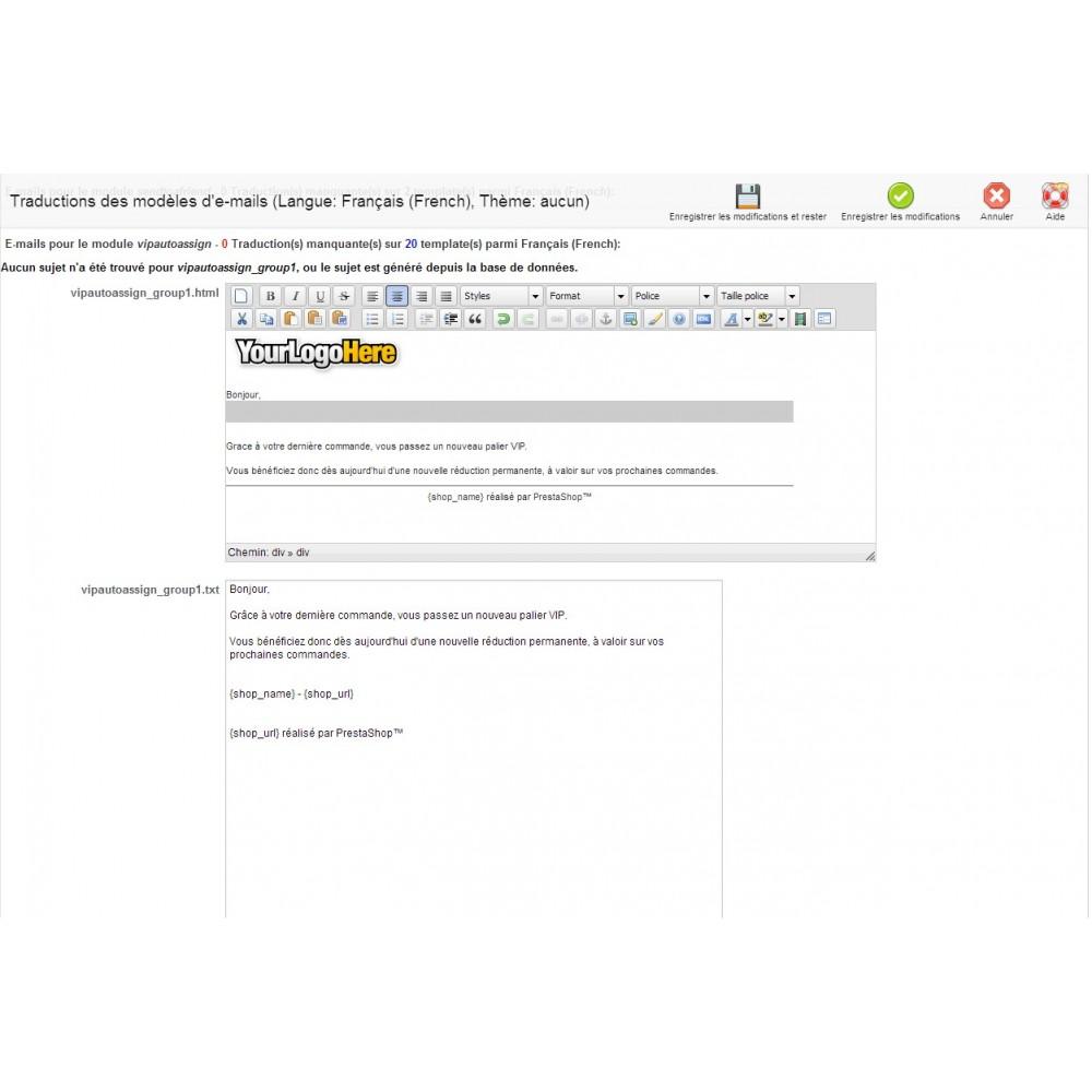 module - Fidélisation & Parrainage - Assignation Auto Groupe VIP - 4