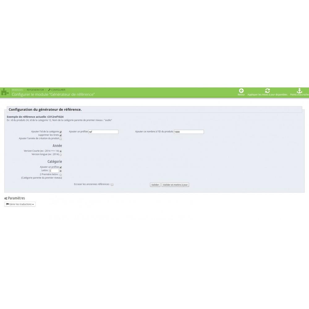 module - Gestion des Stocks & des Fournisseurs - Reference generator - 1.5/1.6 - 2
