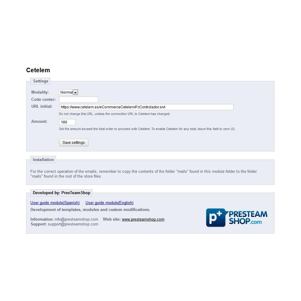 module - Pagos - Cetelem - pagos aplazados - 4