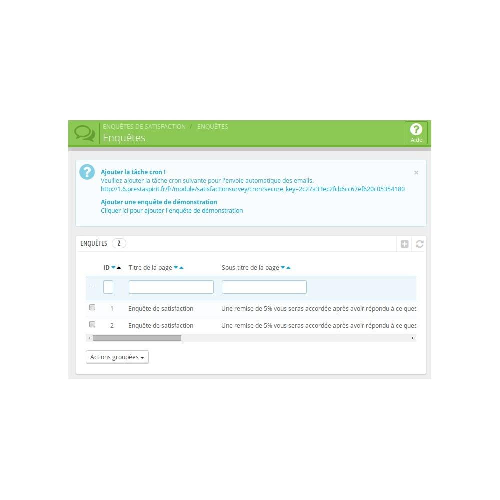 module - Formulaires de Contact & Sondages - Enquête de Satisfaction - 4