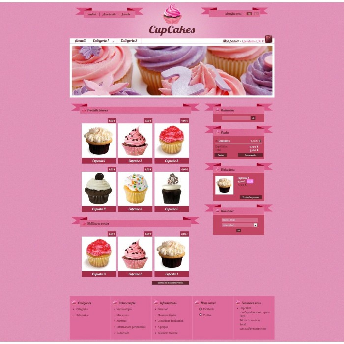theme - Alimentation & Gastronomie - Cupcakes - 1