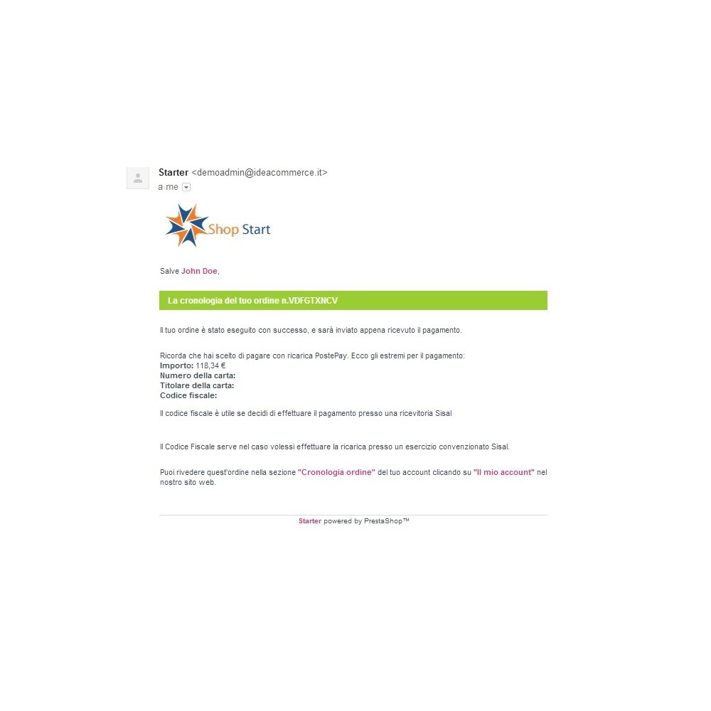 module - Vooruitbetaling - PostePay Module - 10
