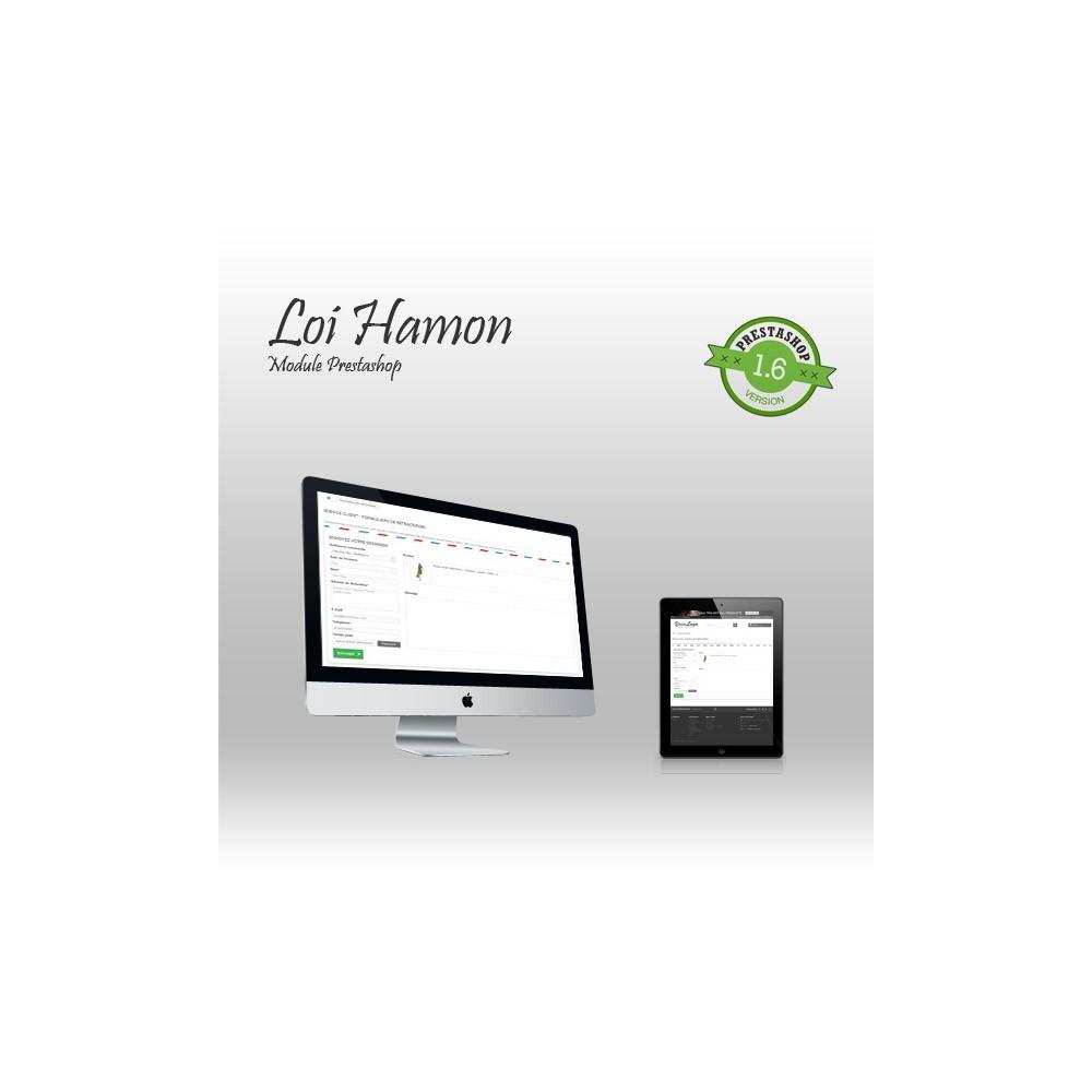 module - Législation (Loi Hamon) - Loi Hamon : gestion des rétractations + envoi de CGV - 1