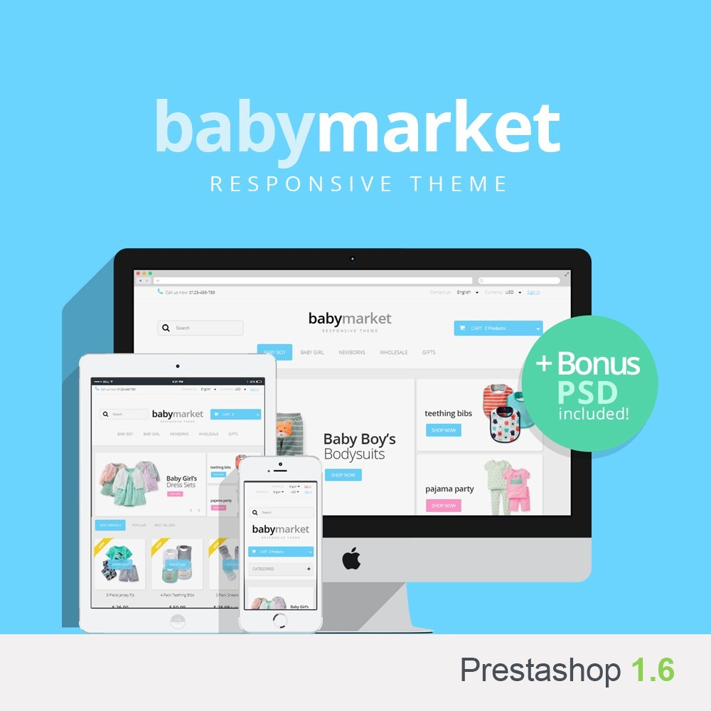 theme - Enfants & Jouets - Baby Market 1.6 Responsive - 1