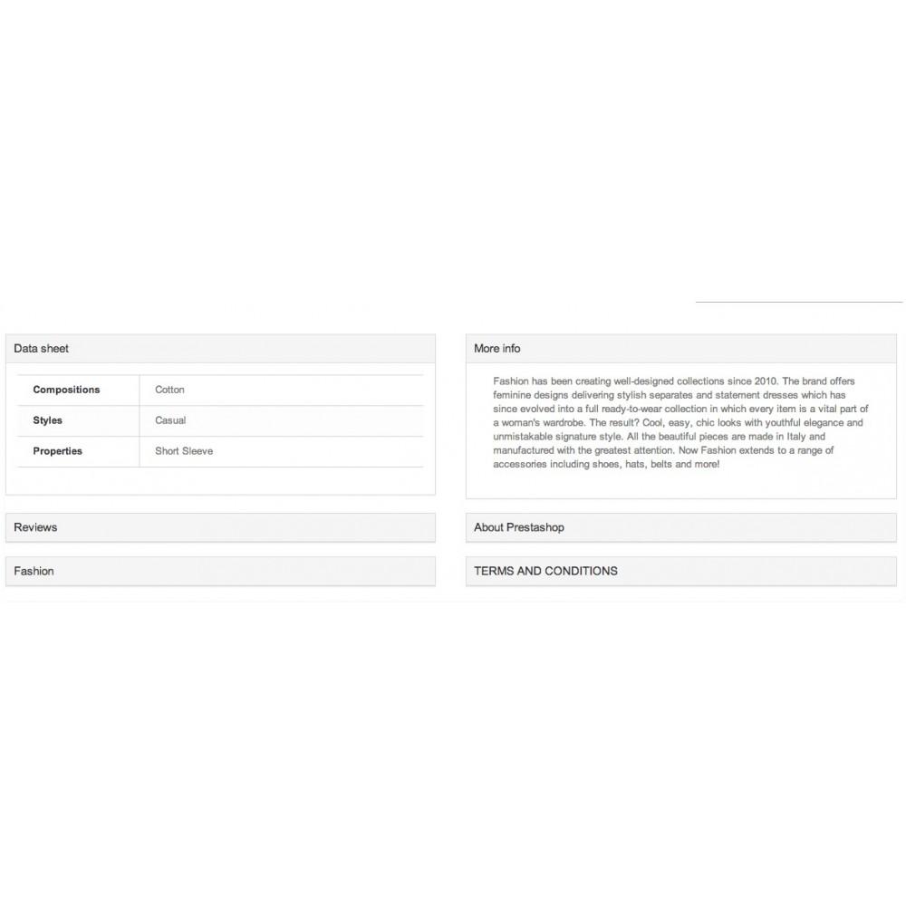 module - Informação Adicional & Aba de Produto - Responsive Product Tabs & Accordion - 7