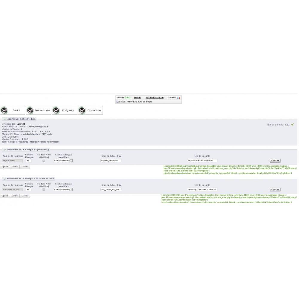 module - Import & Export de données - EXPORT CATALOGUE AU FORMAT CSV - CSVLS2 - 7