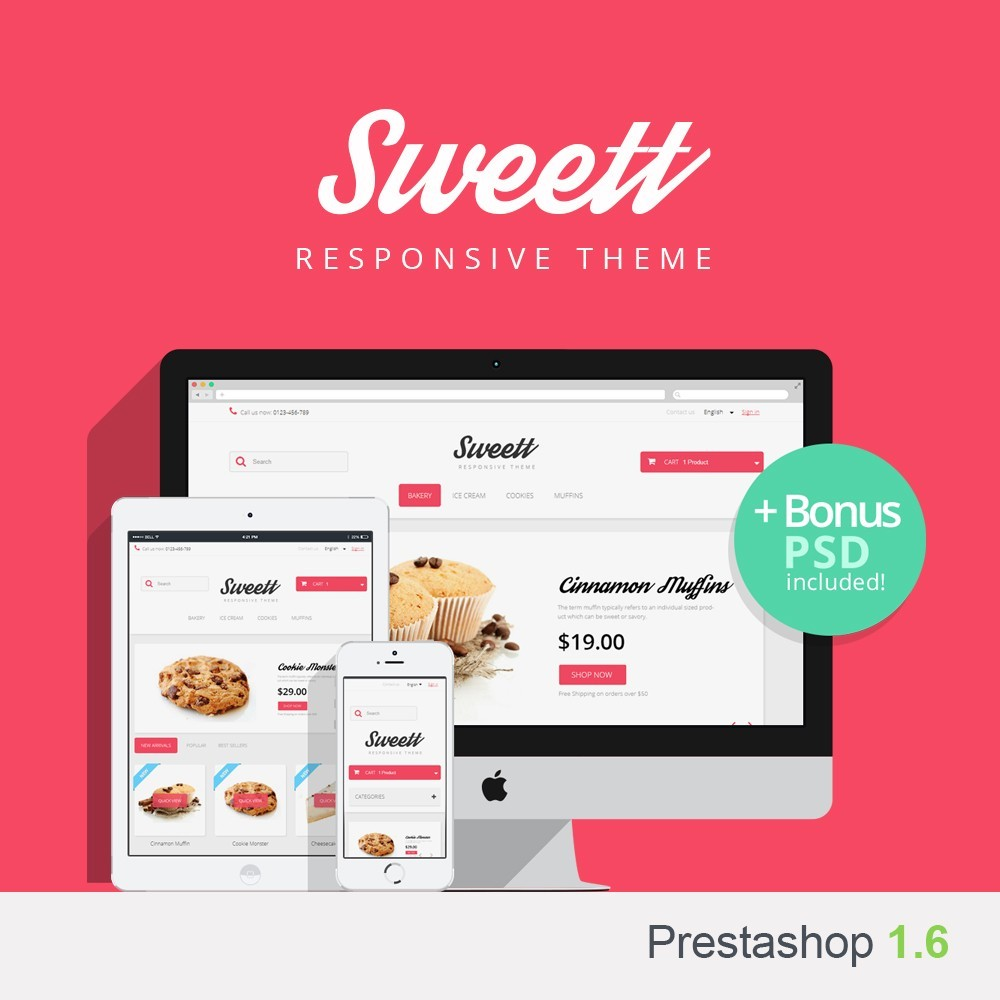 theme - Lebensmittel & Restaurants - Sweett 1.6 Responsive - 1