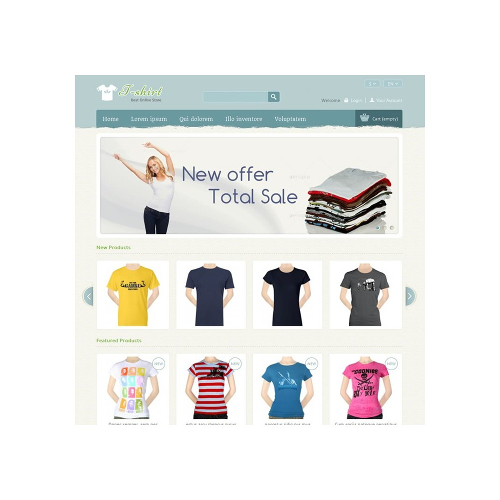 theme - Mode & Schuhe - T-shirt Prestashop Theme - PRS040081 - 2