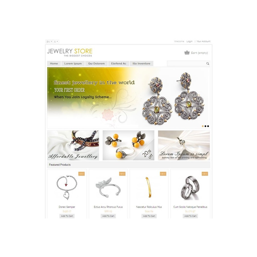 theme - Beauty & Jewelry - Jewelry Prestashop Theme - PRS020044 - 2