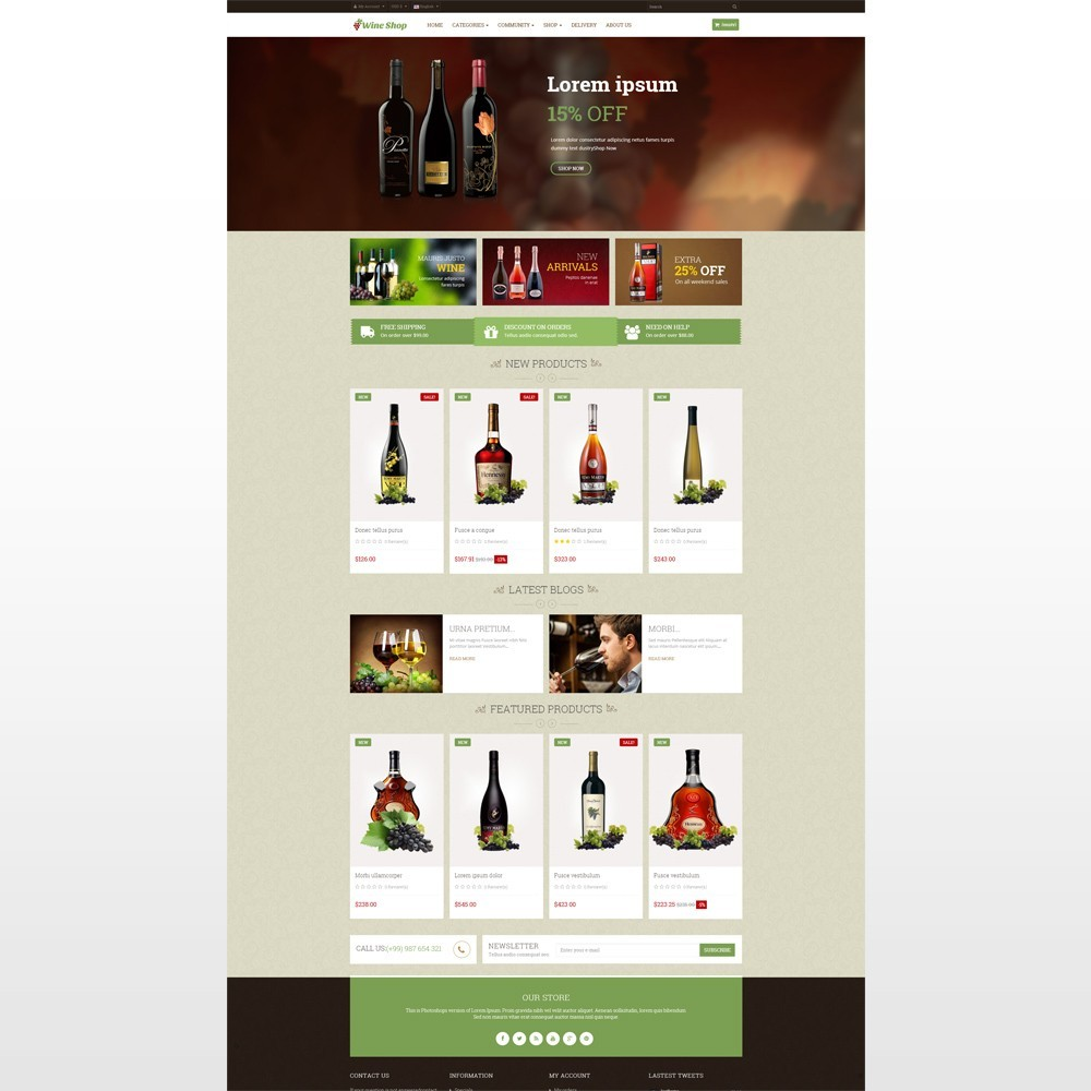 theme - Drink & Wine - Leo Wine Store - 2