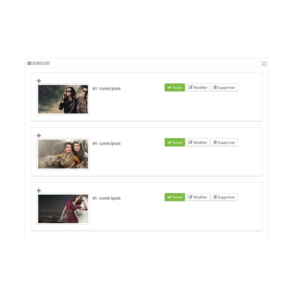 module - Sliders & Galeries - Ajoutez un diaporama à vos pages catégorie - 5