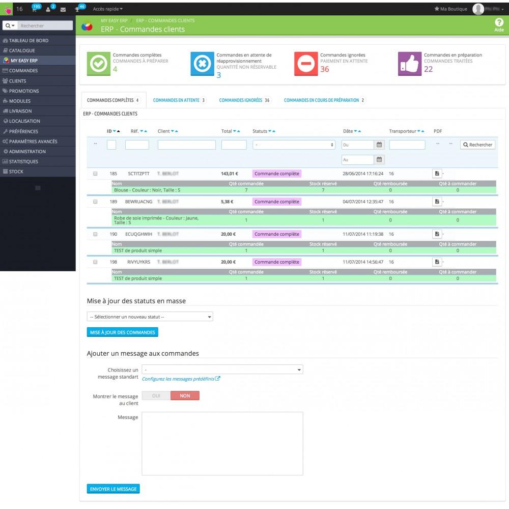 module - Connexion à un logiciel tiers (CRM, ERP...) - My Easy ERP - 7