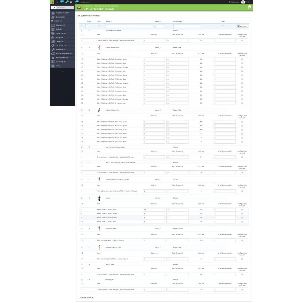 module - Connexion à un logiciel tiers (CRM, ERP...) - My Easy ERP - 32