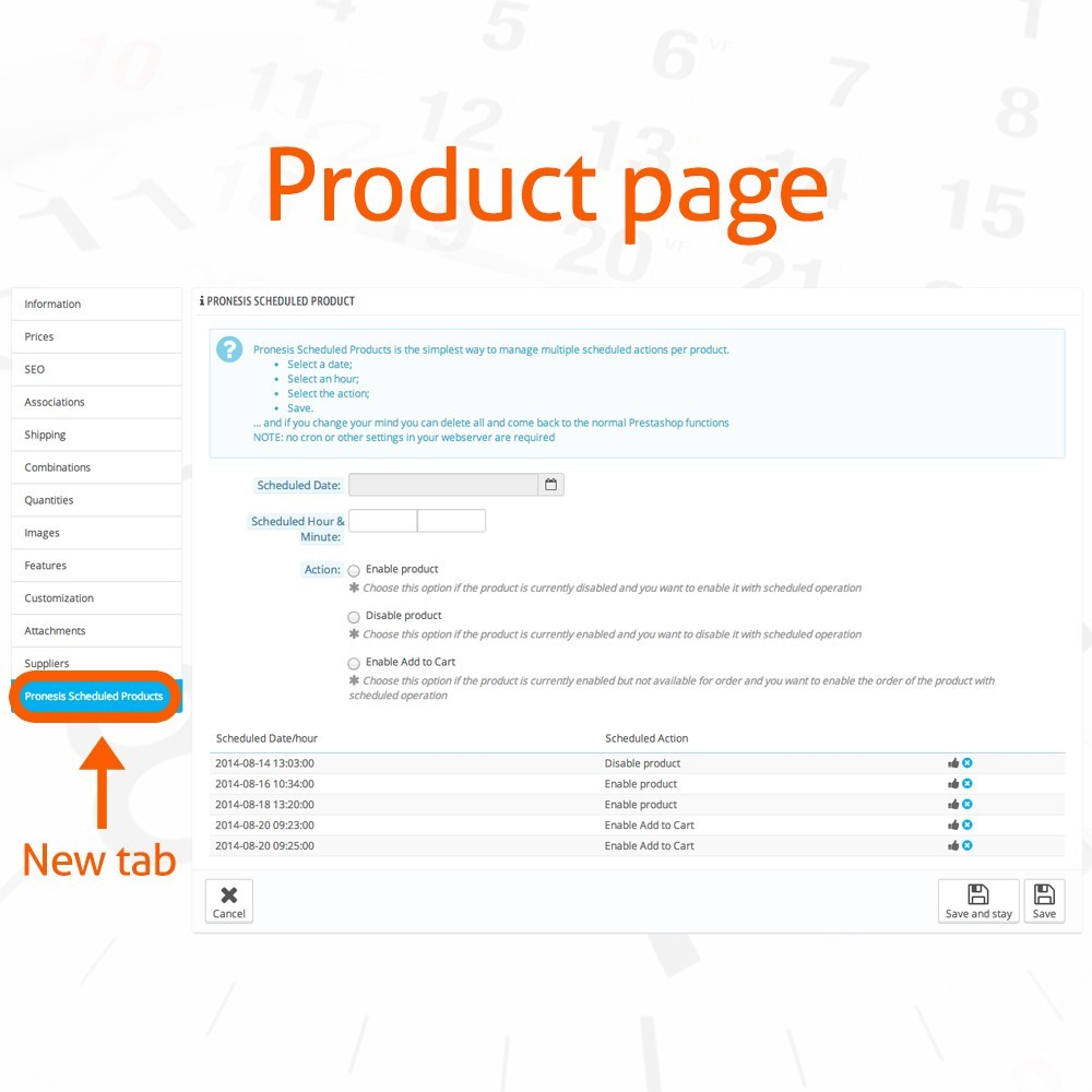 module - Herramientas Administrativas - Scheduled Products Publishing Actions - 2