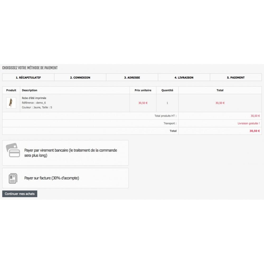 module - Paiement par Facture - Payer par facture avec ou sans acompte - 3
