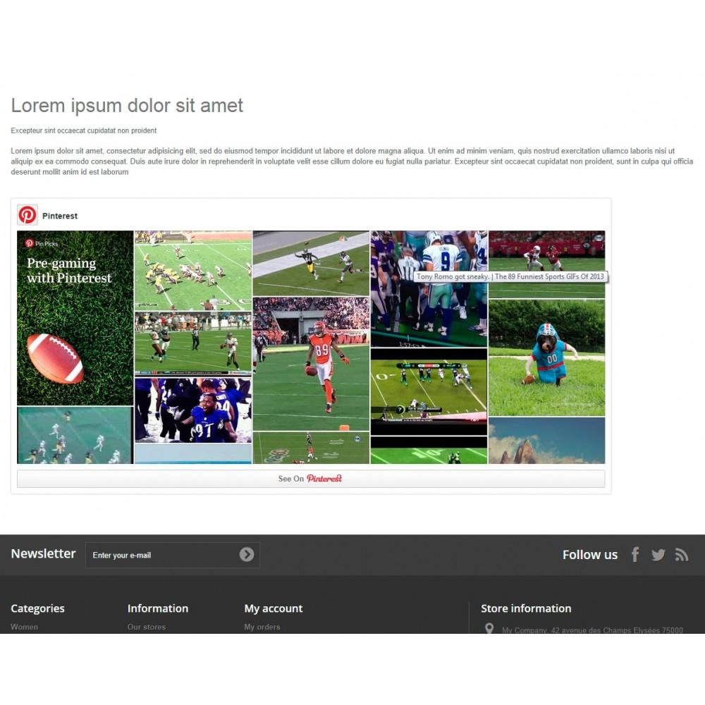 module - Widgets réseaux sociaux - Pinterest Board - 4
