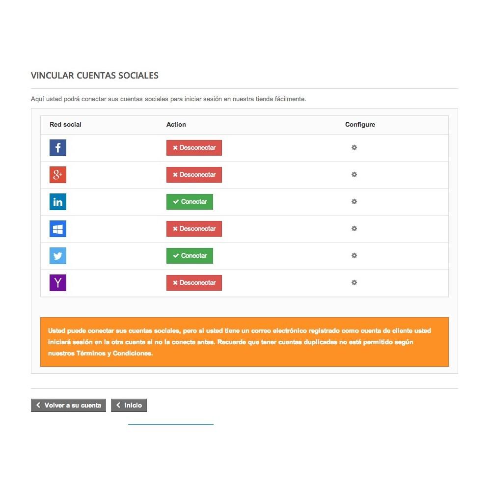 module - Botones de inicio de Sesión/Conexión - Conéctese con redes sociales - 4