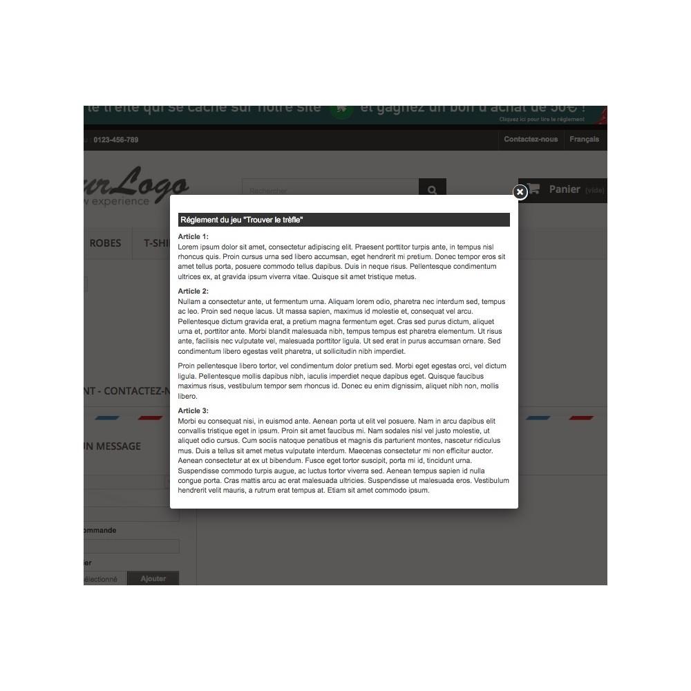 module - Jeux-concours - Chasse au trésor / FindClover - 11