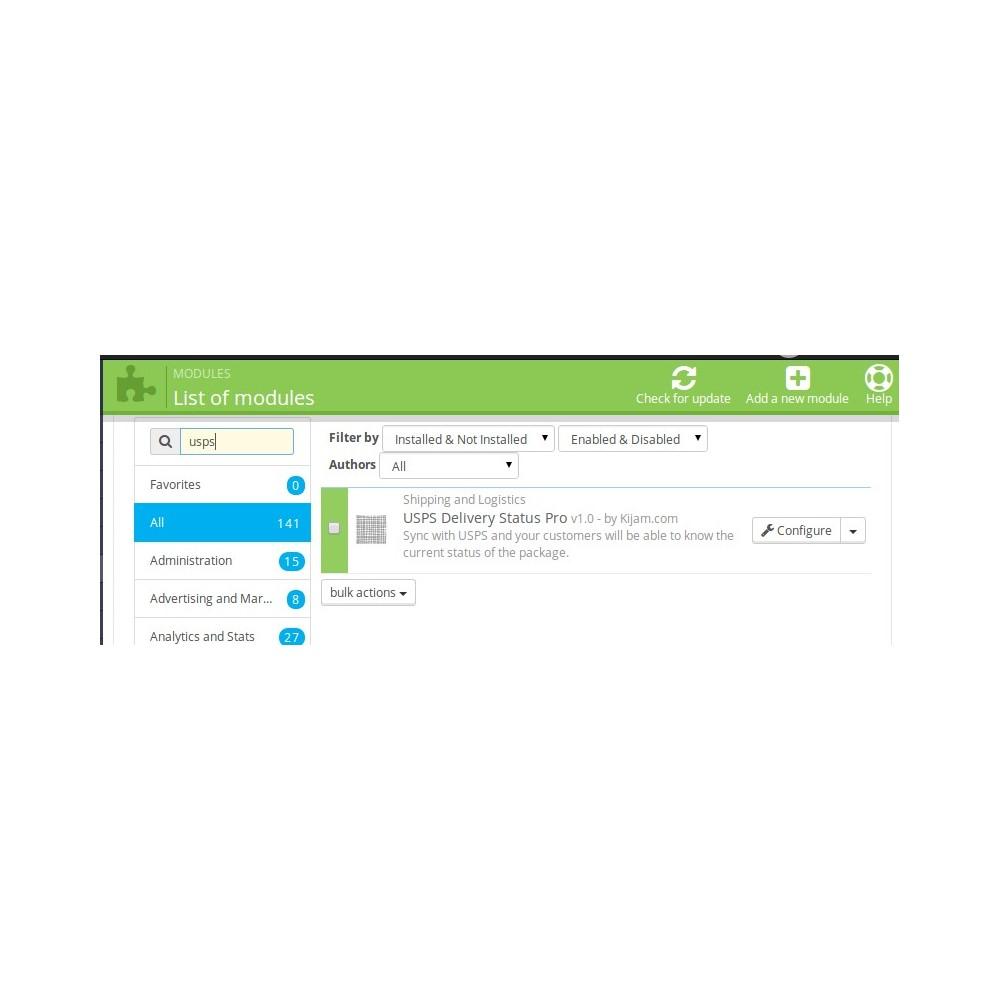 module - Sendungsverfolgung - USPS Delivery Status Pro - 1