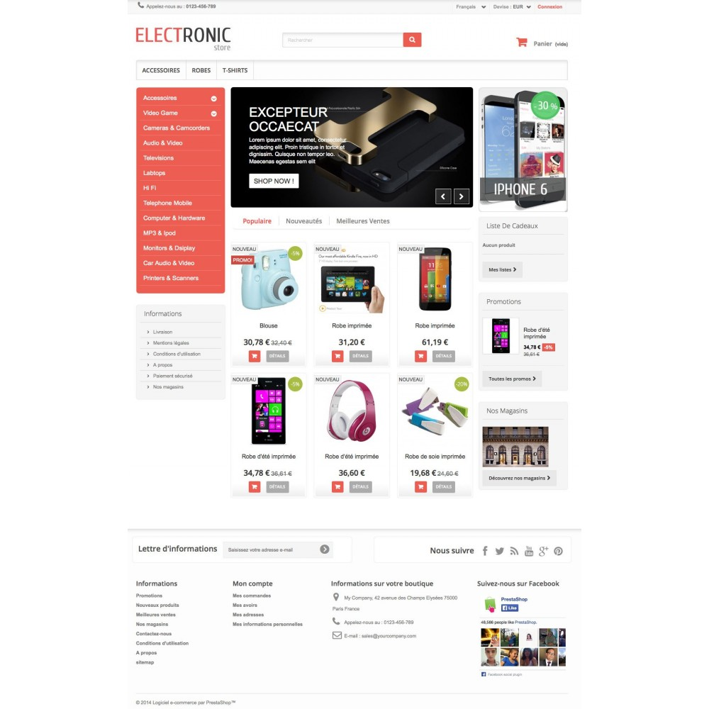 theme - Electronique & High Tech - ELECTROSHOP - 1