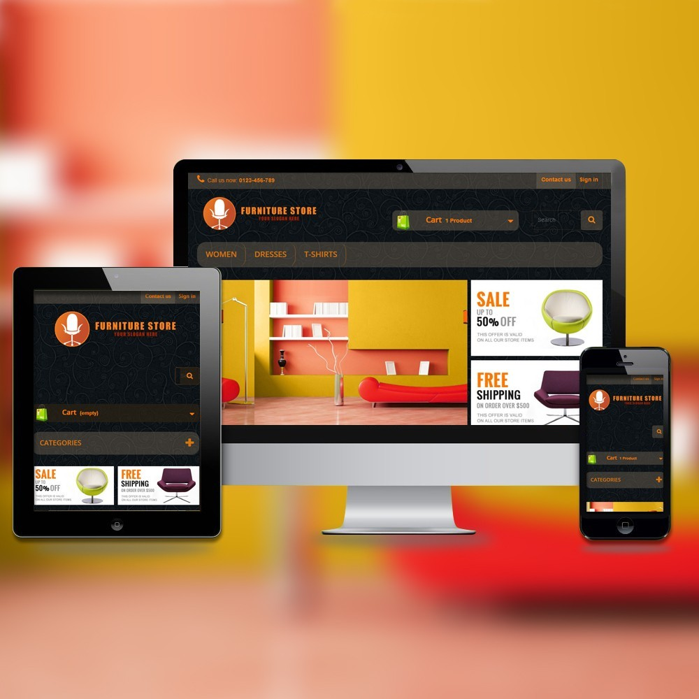theme - Home & Garden - RESPONSIVE FURNITURE-STORE THEME - 1