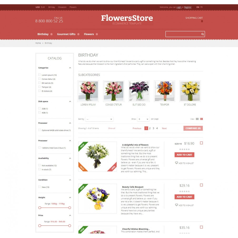 theme - Gifts, Flowers & Celebrations - Floweris - Flowers Shop - 2