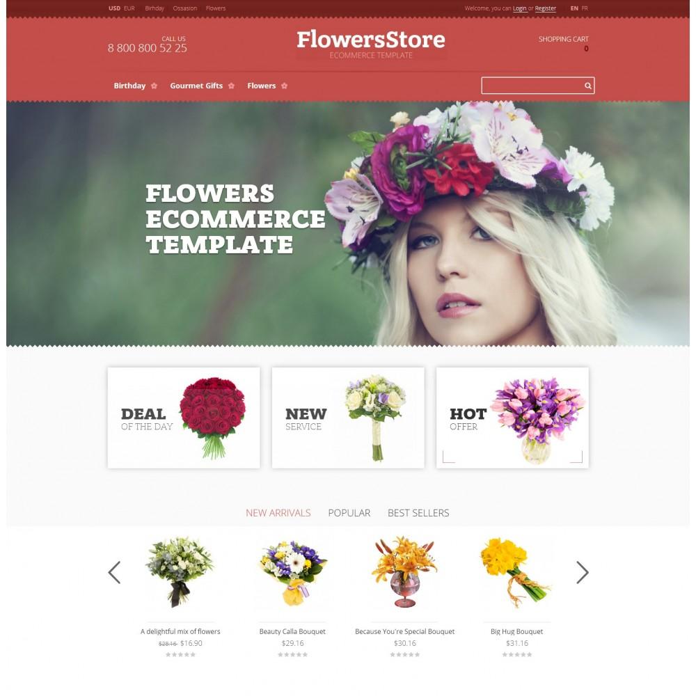 theme - Подарки, Цветы и праздничные товары - Flowers - Магазин Цветов - 2