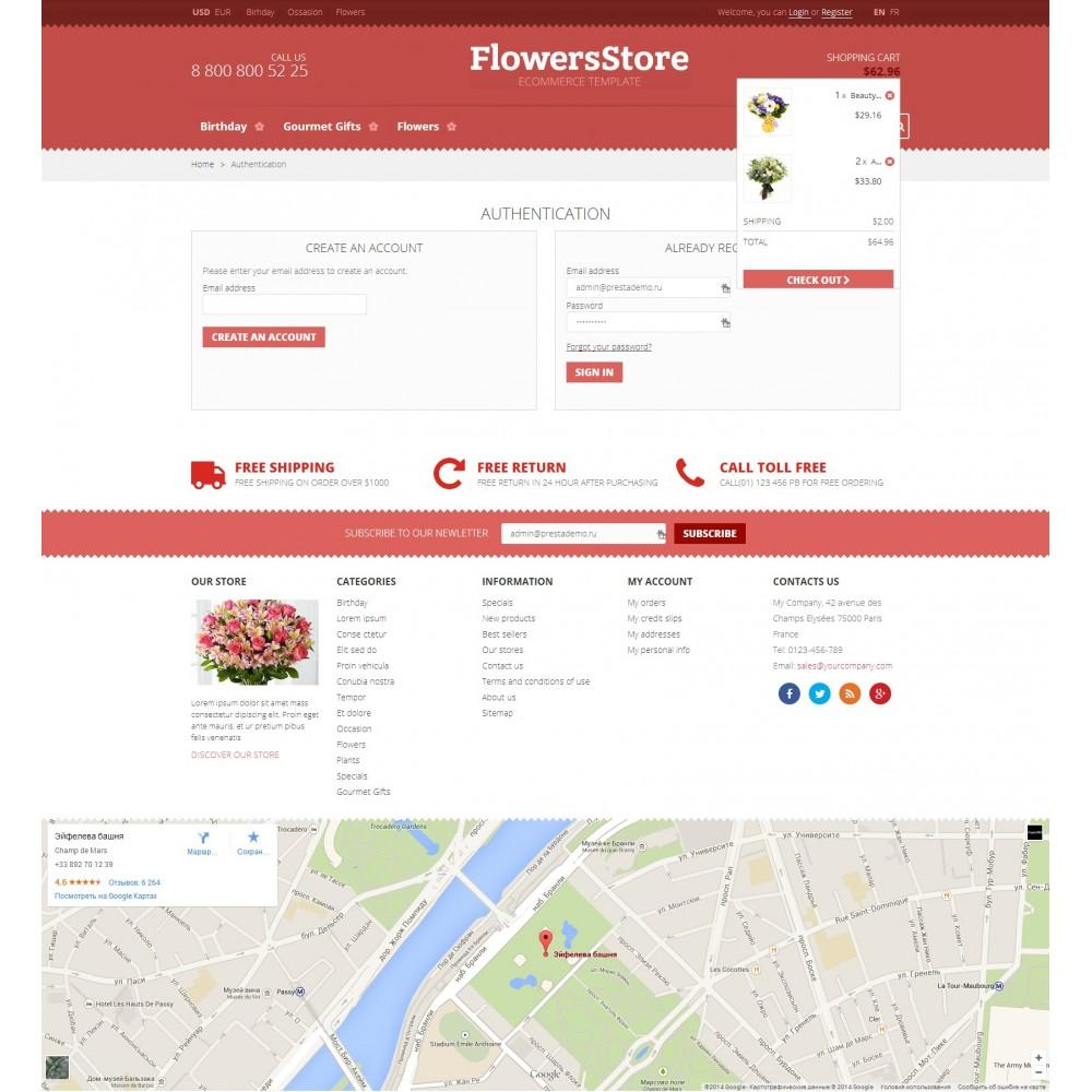 theme - Подарки, Цветы и праздничные товары - Flowers - Магазин Цветов - 5