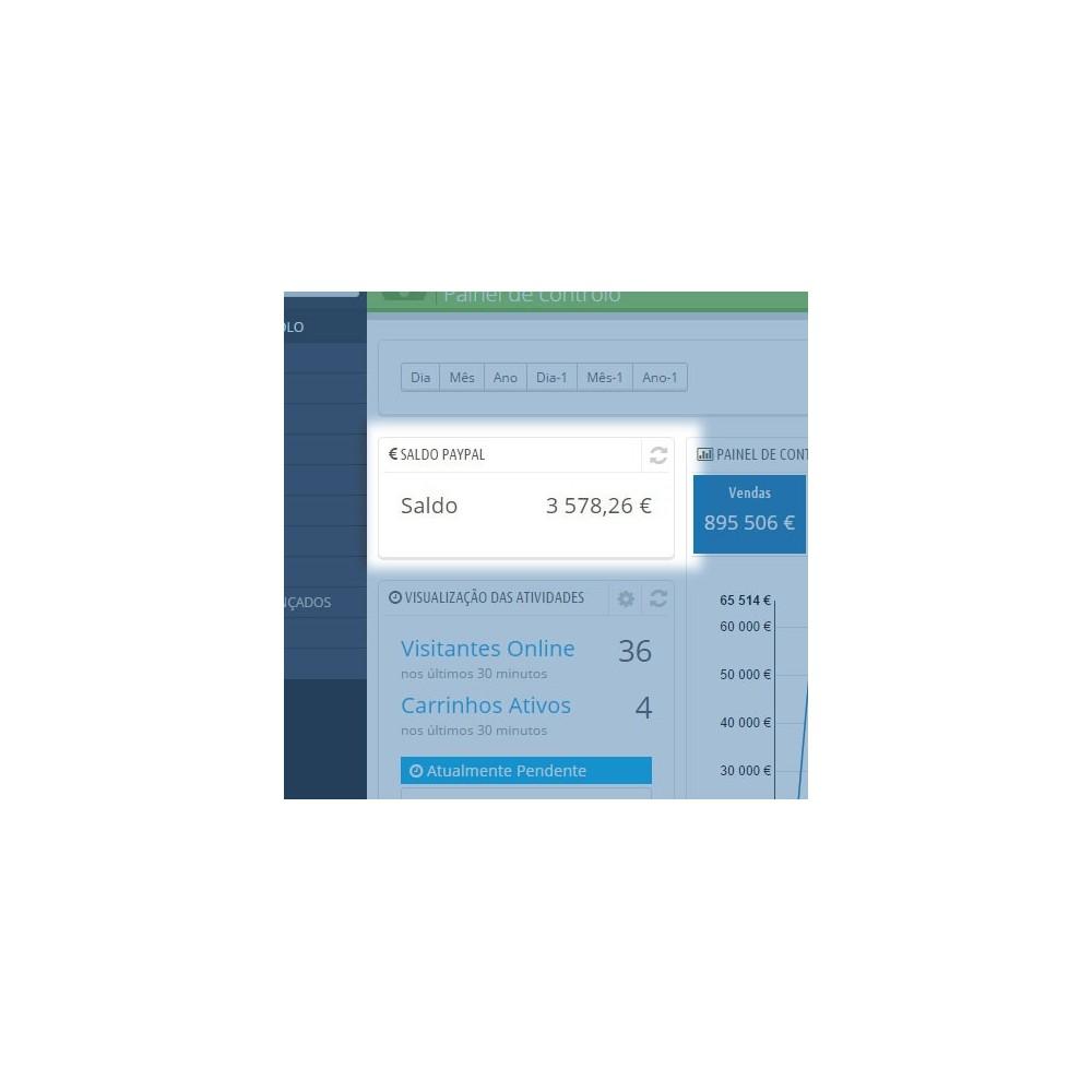 module - Painéis de controle - Saldo PayPal no Painel de controlo - 3