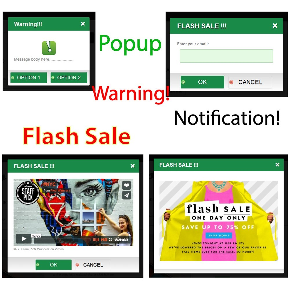 module - Dialoogvensters & Pop-ups - Warning Popup Pro - 1