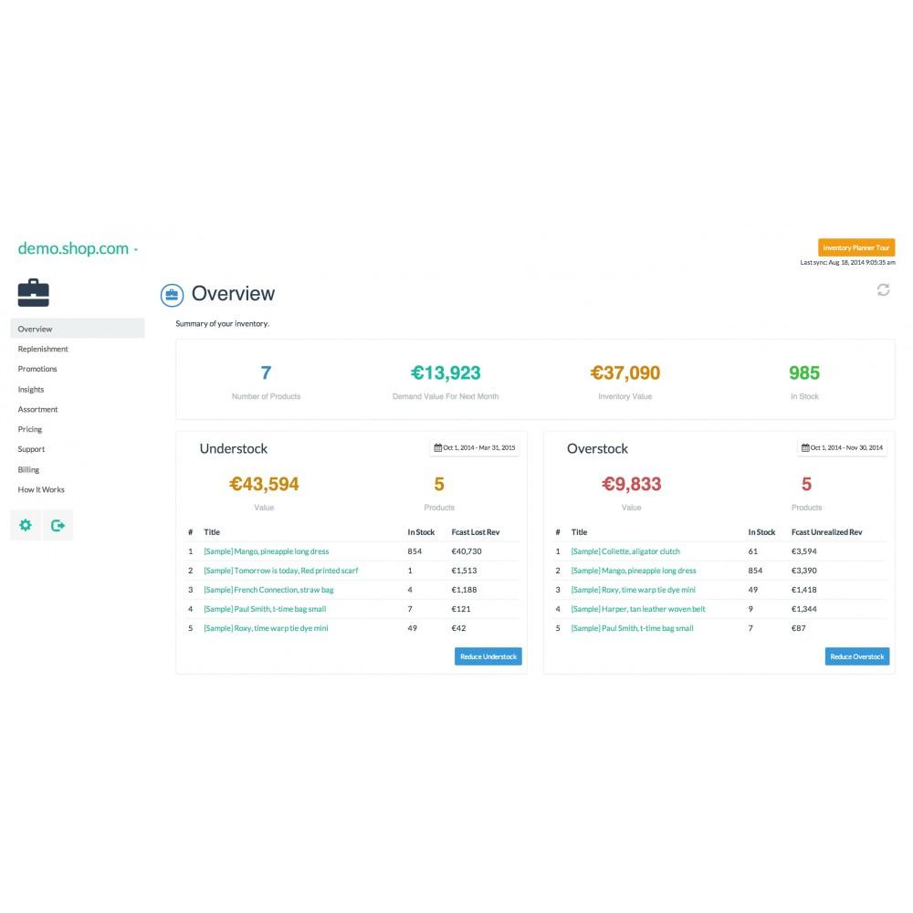 module - Gestion des Stocks & des Fournisseurs - Inventory Planner - 1