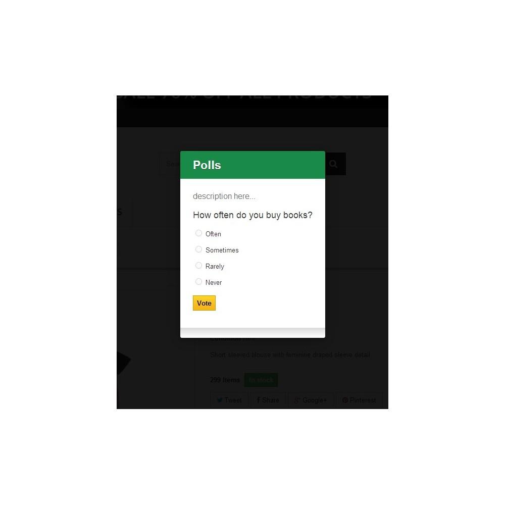 module - Form di contatto & Questionari - Prestashop Poll Pro [Popup] - 1