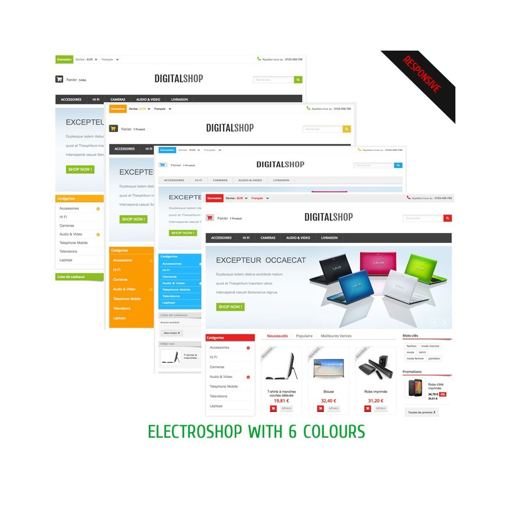 theme - Electronique & High Tech - DIGITALSHOP - 2