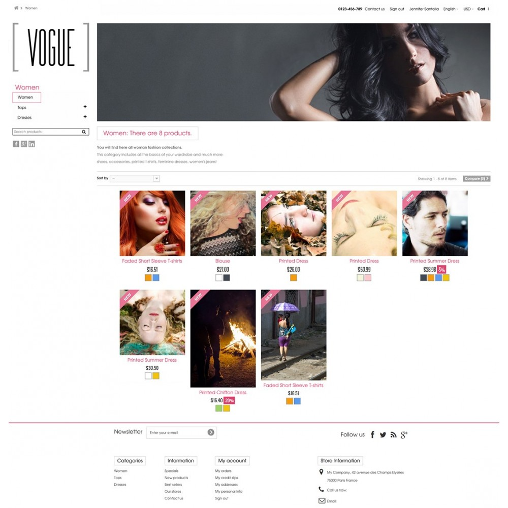 theme - Mode & Schuhe - Vogue Parallax Masonry Prestashop Theme - 3
