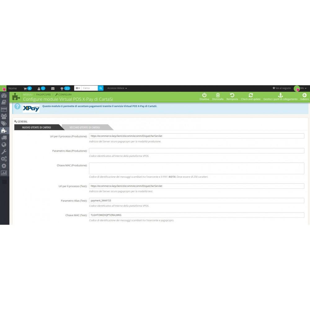 module - Pagamento con Carta di Credito o Wallet - Payment Module X-Pay of CartaSi - 1