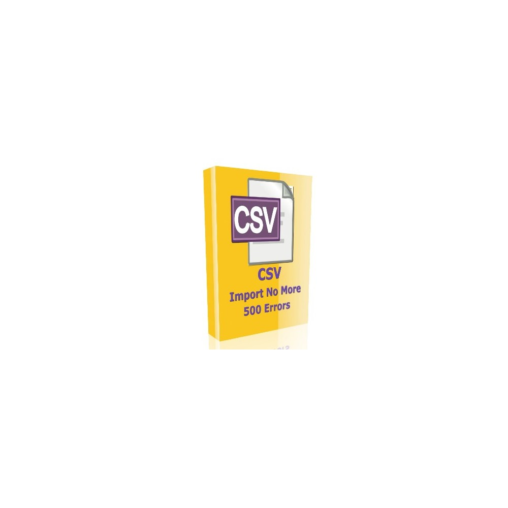 module - Data Import & Export - CSV Import no more 500 errors - 1