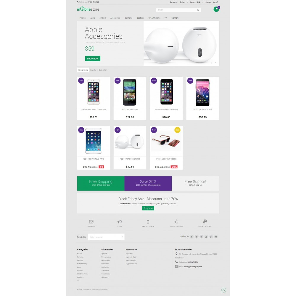 theme - Electrónica e High Tech - Digital Mobile Store Responsive - 2