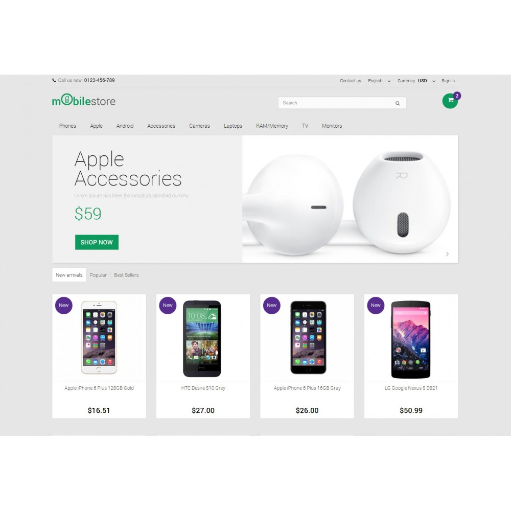 theme - Электроника и компьютеры - Digital Mobile Store Responsive - 3