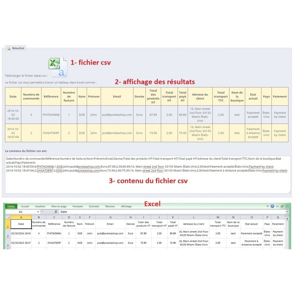 module - Daten Im-&Export - Export of invoices - 3