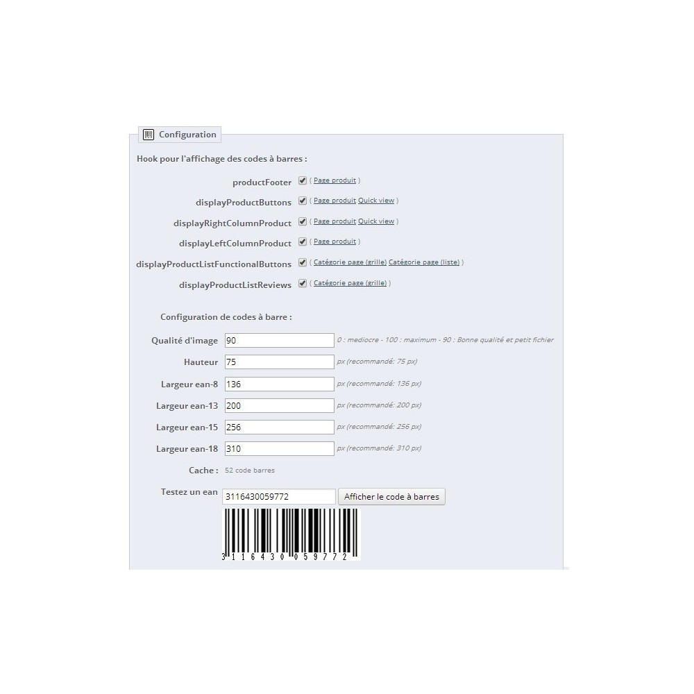module - Preparation & Shipping - Barcode EAN 8, 13, 15, 18 and stocks - 2