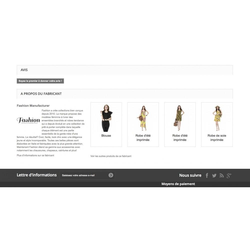 module - Ventes croisées & Packs de produits - Présentation du fabricant sur la page produits - 2