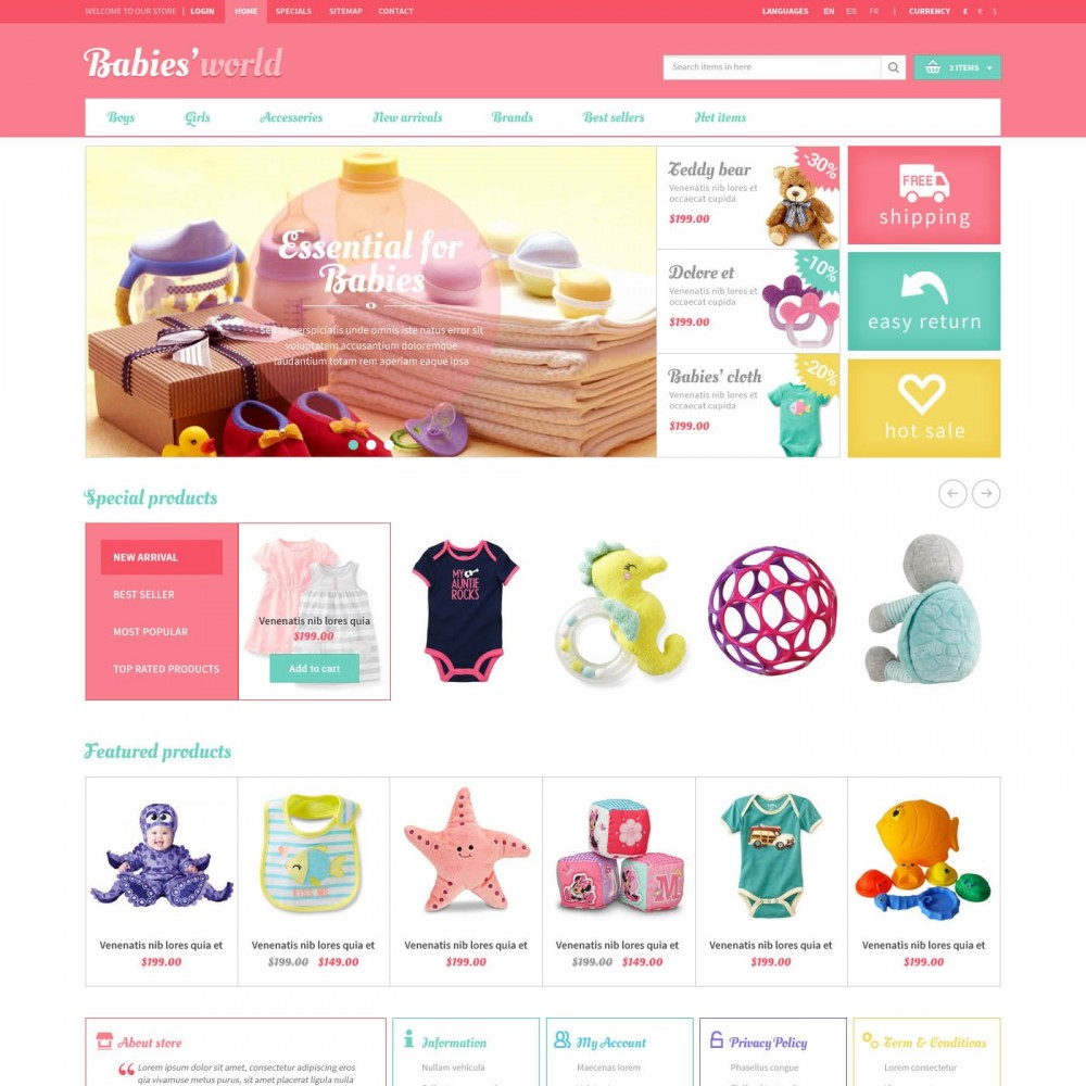 Just click through preferred online shopping destinations to find exactly what you're looking for. Whether you want to bring more organic, stylish, fun, or functional products into your baby's life, we've compiled a list of the best baby stores to shop online.