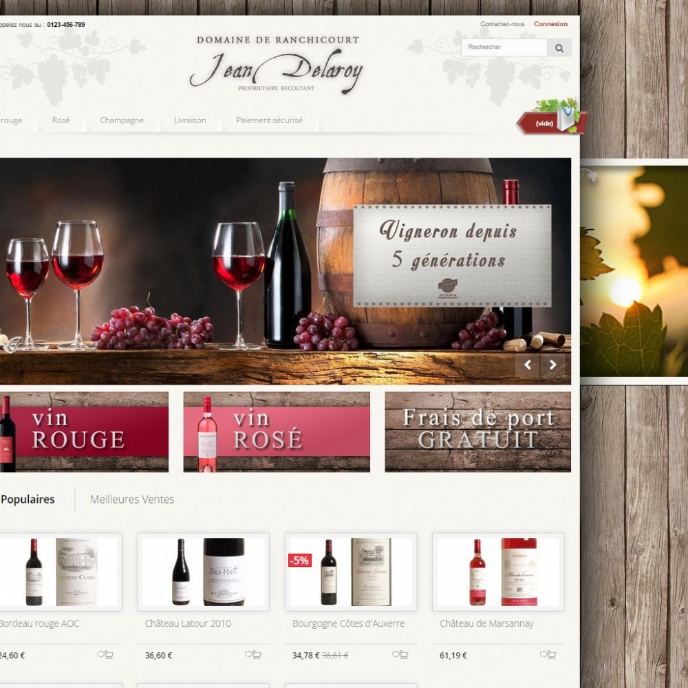 theme - Drink & Wine - Pure Vigne ( Wine ) - 1