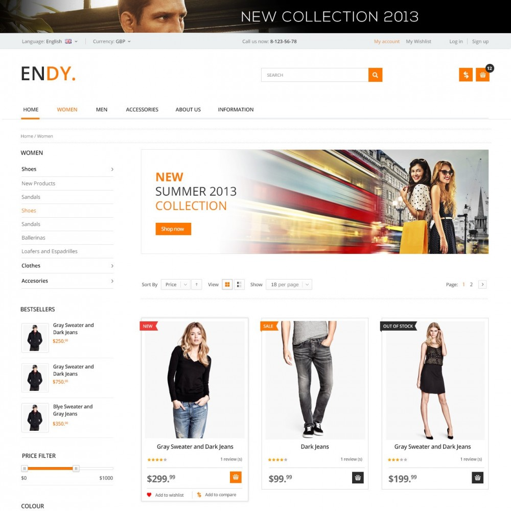 theme - Moda y Calzado - Endy - Shop of Design Clothes - 2