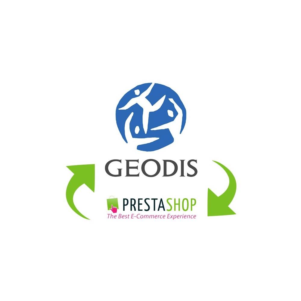 module - Import & Export de données - Export de commandes vers Geodis - 1