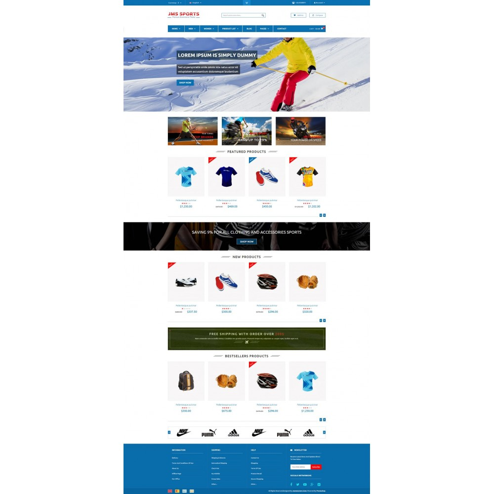 theme - Sports, Activities & Travel - JMS Sport - 2