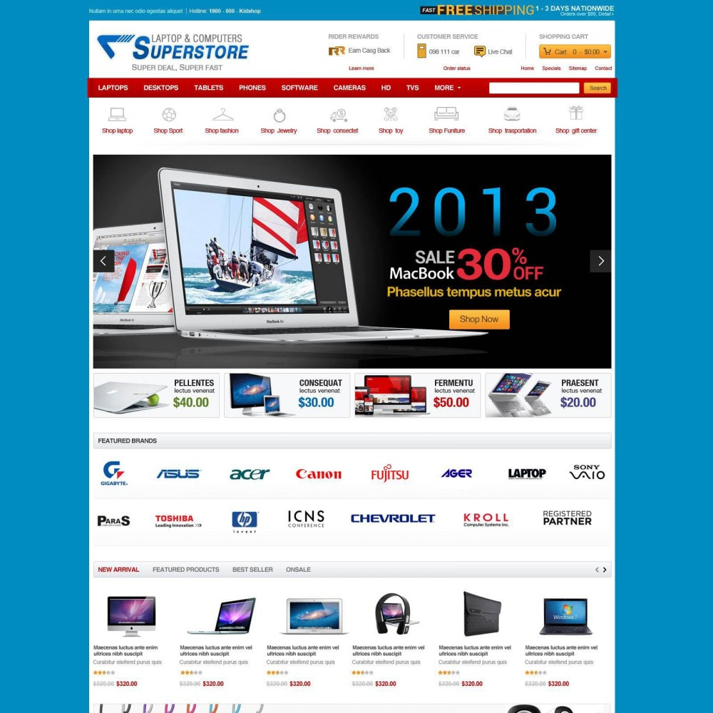 theme - Eletrônicos & High Tech - Prestashop Computer Equipment & Parts - SuperStore - 4